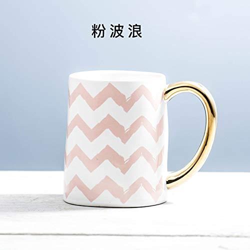 Mugs Tasses Tasse À Café en Porcelaine Empilable Tasses À Café Blanches De 450 ML Tasses À Thé Verres À Boire Drinkware Cuisine Dining, F