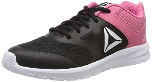 Reebok Tenis Rush Runner DV8694 para Jóvenes, Color Negro con Rosa, Talla 23.5 Mex