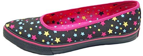 Underground Damen Schuhe Multi Sterne Ballerinas Schwarz Ballerinas 37