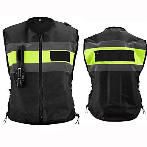 Gilet airbag de course pour moto, vélo, équitation, ski (couleur : noir, taille : XXL)