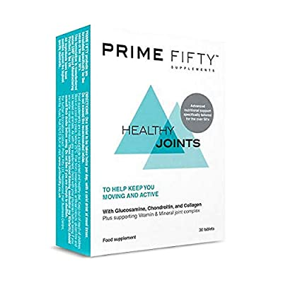 PRIME FIFTY Healthy Joints | Over 50 Multivitamins & Minerals Targetted for Joint Support | for 50, 60, 70 Plus Men Women | Glucosamine and Chondroitin Tablets with Collagen | 30 Tabs