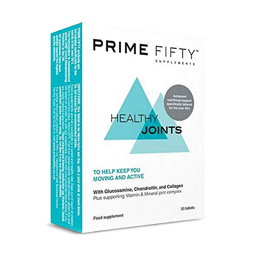 PRIME FIFTY Healthy Joints | Over 50 Multivitamins & Minerals Targetted for Joint Support | for 50, 60, 70 Plus Men Women | Chondroitin Tablets with Collagen | 30 Tabs *8Pack +eBook