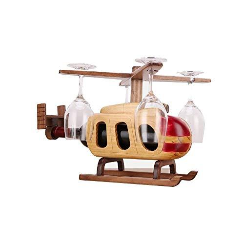 WJCCY Creativas de Madera del Vino Soportes for Botellas de Práctica Mostrar Sala de Estar Decorativo Gabinete Vino Tinto de Almacenamiento de Almacenamiento Bastidores