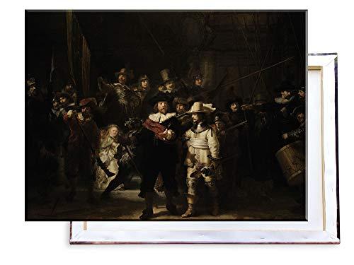 Unified Distribution Rembrandt - Die Nachtwache - Klassisches Gemälde - Replik auf Leinwand 80x60 cm