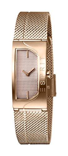 Esprit Damen Analog Quarz Uhr mit Edelstahl Armband ES1L045M0045