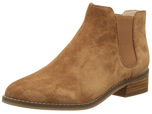 Buffalo London Damen 416-5201 Cow Suede Chelsea Boots, Braun (Tan 01), 40 EU