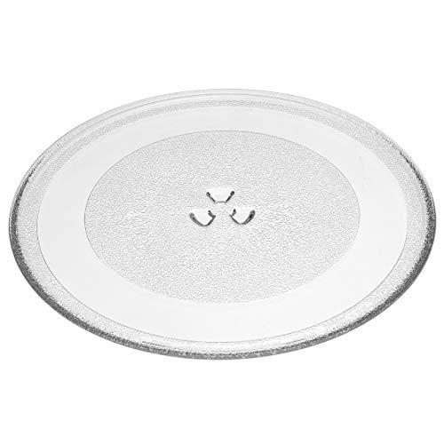 vhbw Placa de microondas de vidrio 32.4cm compatible con Whirlpool MH6150XLB-1, MH6150XLQ, MH6150XLQ-1 microondas - plato giratorio con soporte en Y