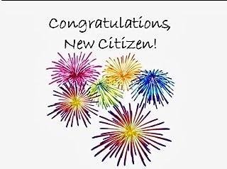 New Citizen Congratulations Card Fireworks!