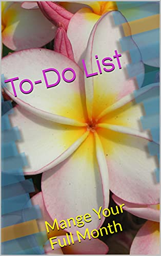 To-Do List: Mange Your Full Month (English Edition)