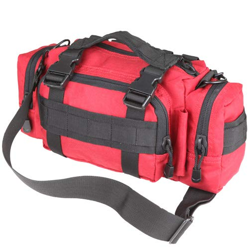 Spec Operator Survival First Aid Kit w/SWAT Tourniquet. Great for Camping, Hiking, Home Preparedness and Workplace. It is a Complete Kit for The Prepper Who Wants The Best !