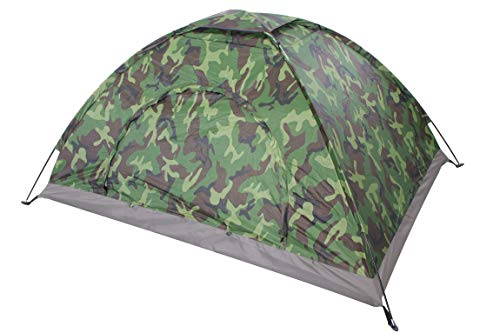 Sutekus Camping Tent Camouflage Tent Lightweight Outdoor Tent Music Festival Dome Tent (One Person)