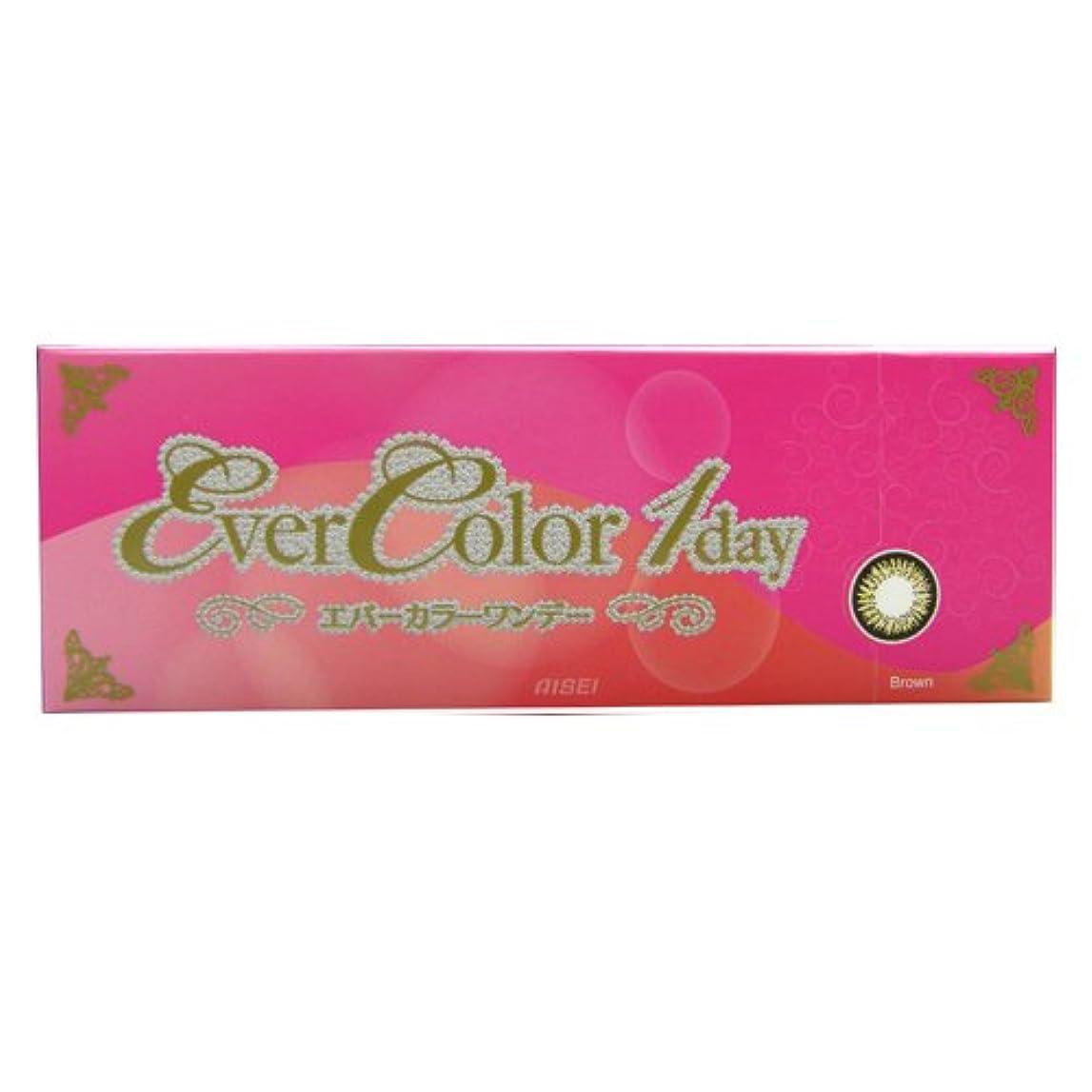 誰か学習エジプト人エバーカラー Ever Color 1day 01 ブラウン 10枚入 (PWR) -3.00