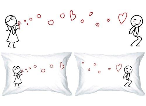 Human Touch - Burbujas del Amor II - De El y de Ella - Fundas de Almohada romántica Peculiar, Regalo de Boda, Regalo de San Valentín, o Simplemente para elevar una Sonrisa.