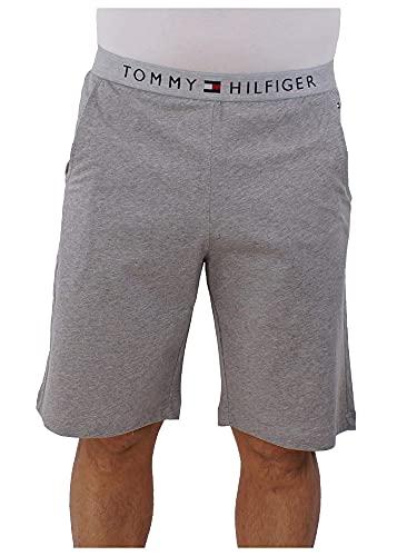 Tommy Hilfiger Clásico De Los Hombres con Logotipo Shorts De Salón, Gris Brezo Pequeño