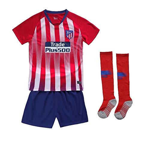 Camisetas de Fan New Season Atletico Madrid Juego de fútbol para niños Sudor Dry Comfort Camiseta Shorts Camiseta Personalizada Número de Nombre personalizadocamisetaAbanico Curso Colaboracion Cola