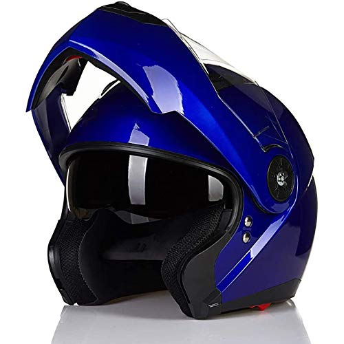qwert Jet-Helm, Motorrad-Helm mit doppelter Sonnenblende, Elektrofahrrad Integralhelm Klappbarer Herren Helm, DOT-geprüft, Abnehmbares Futter, M,L,XL,XXL