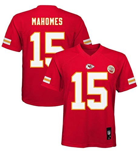 Outerstuff Patrick Mahomes Kansas City Chiefs NFL Boys Youth 8-20 Red Home Mid-Tier Jersey (Youth X-Large 18-20)