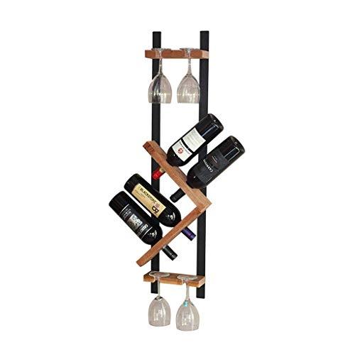 Portabottiglie Portabottiglie Europeo Portabottiglie da appendere a parete in Metallo semplice (può contenere 4 bottiglie) Mensola per Vino