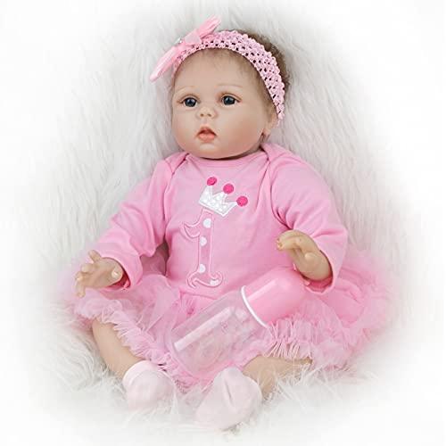 ZIYIUI Realista Muñecas Reborn 22 Pulgadas 55cm Suave de Silicona Vinilo Bebes Reborn Niña Recién Nacido Bebé Juguete