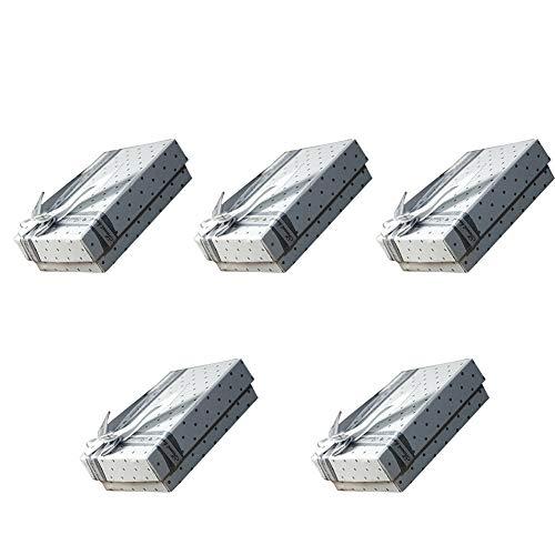 KaariFirefly Geschenkboxen für Ringe, Ohrringe, Halskette, Armband, Schmuck, 5 Stück Multi