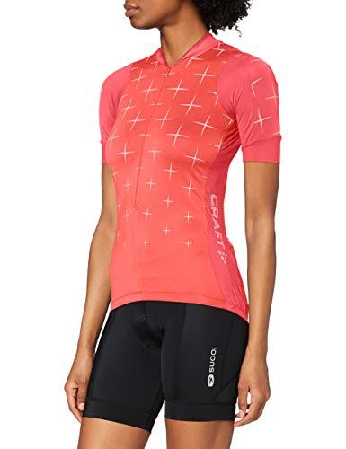 Craft Belle Glow–Maillot de Ciclismo para Mujer, Mujer, Color Panic, tamaño FR...
