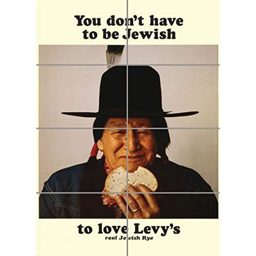 Doppelganger33 LTD Advert Food Levy Rye Bread Native American Jewish Wall Art Multi Panel Poster Print 33x47 inches