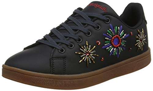 Desigual Damen Shoes Cosmic New Galactic Sneaker, Schwarz (Black 2000), 39 EU