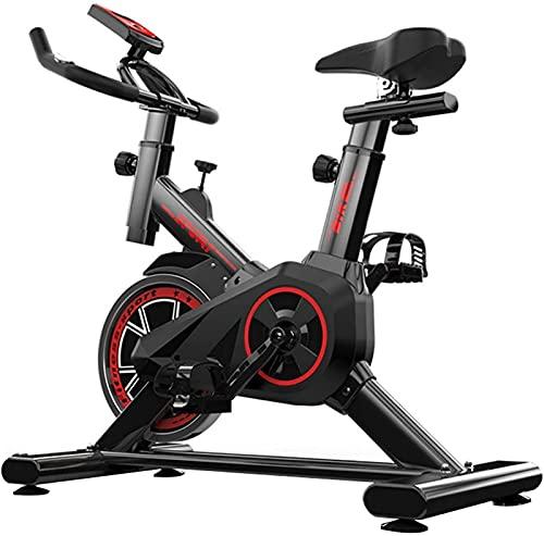 NBLD Bicicleta de Spinning Bicicleta de Ejercicio para el hogar, Bicicleta Fija de Interior con Resistencia Ajustable, Bicicleta de Spinning Adecuada para aeróbicos y Entrenamiento de Fuerza