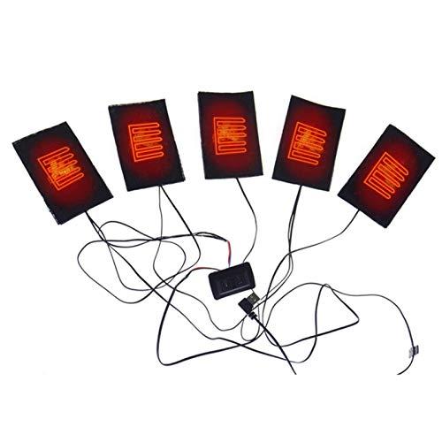 Heizkissen Elektrisch, Heizkissen Rücken Nacken Schulter, Kleidung Heizkissen, USB-Heizkissen,Elektrische Kleidung Fünf Heizkissen Heizelement,Einstellbare Temperatur Wärmer Werkzeug für Frauen Männer