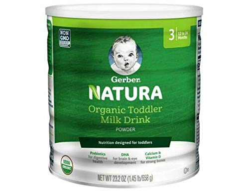 Gerber Natura Organic Toddler Formula Milk Powder, Stage 3, 23.2 Oz. Can