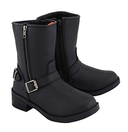 Milwaukee Leather Boots MBL9475 Ladies Engineer Style Riding Boots