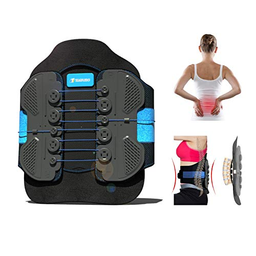 """LSO Back Brace with Maximum Decompression Plate&Adjustable Arch Back Support,Pulley System Lumbar Support Belt for Herniated Disc Pain Relief,Spine Stenosis,Sciatica,Scoliosis(S/M fit belly 23.5""""-35"""")"""