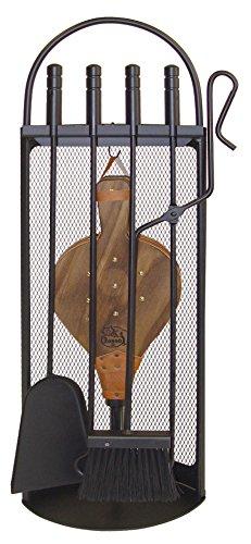 Imex El Zorro 10047 Juego para chimenea arco-malla (fuelle, 68 x 23 x 14 cm) útiles color negro