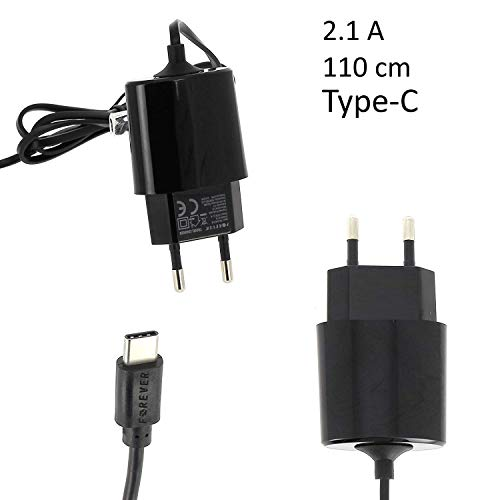 Oplader USB type-C 2,1 A zwart Forever laadkabel laadstekker kabel type C Quick Charge snellader stopcontact