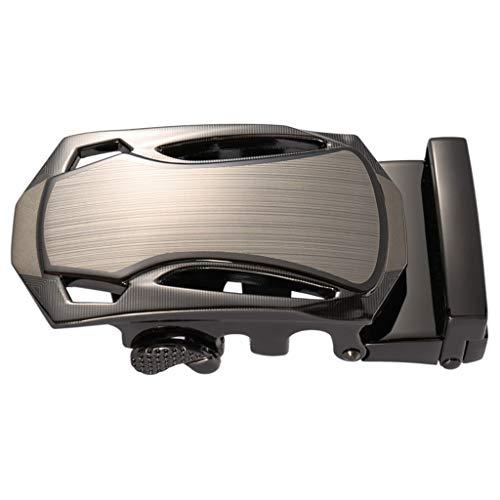 YUTRD ZCJUX Hebilla automática del Coche de los Deportes de la aleación del cinc del cinturón de los nuevos Hombres Hebillas adecuadas de 3,5 cm (Color : Gray)