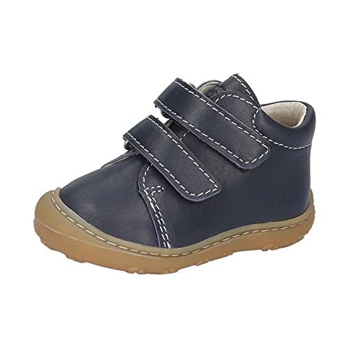 RICOSTA Unisex - Kinder Boots Chrisy von Pepino, Weite: Mittel (WMS),Klettstiefel,Booties,Leder,Kids,junior,Nautic (184),23 EU / 6 Child UK