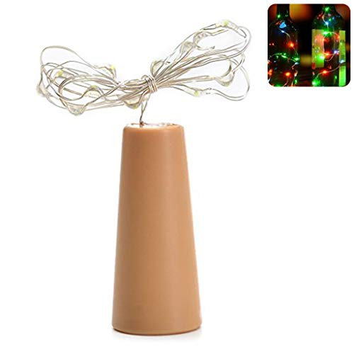 suoryisrty LED Weinflasche Lichterketten Cork Shaped Glass Stopper Lampe für Weihnachten