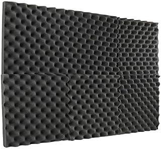 "6 Pack Charcoal convoluted egg crate foam tiles acoustics foam sound deadening foam sound insulation panels acoustic dampening foam padding sound cancelling foam - 12""x12""x1.5"""
