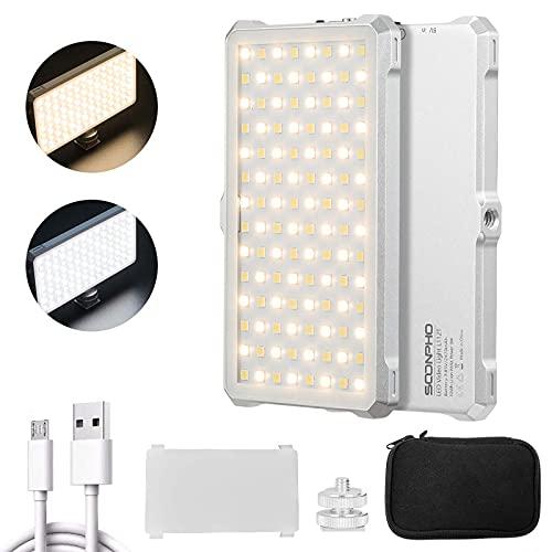 9W Fotografie Licht RGB Licht mit 2530 mAh Batterie 3200K-5600K Licht Kamera 0LED Display Video Licht LED für DSLR Kamera YouTube Vlogs, CRI>96