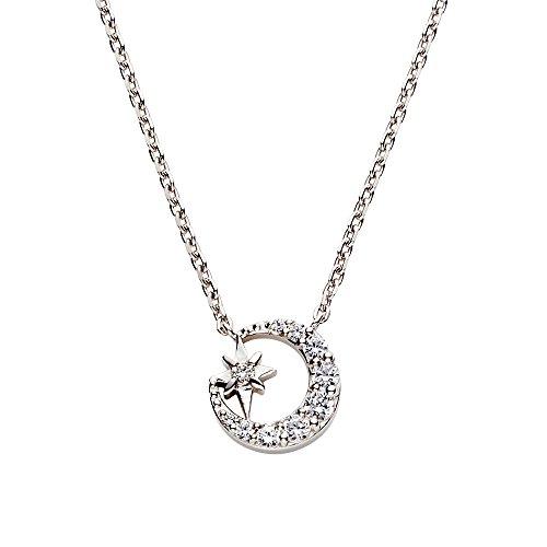『[VAヴァンドーム青山] VA VENDOME AOYAMA スパークルナイト 月 星 ダイヤモンド ネックレス GS6N019340DI』の1枚目の画像