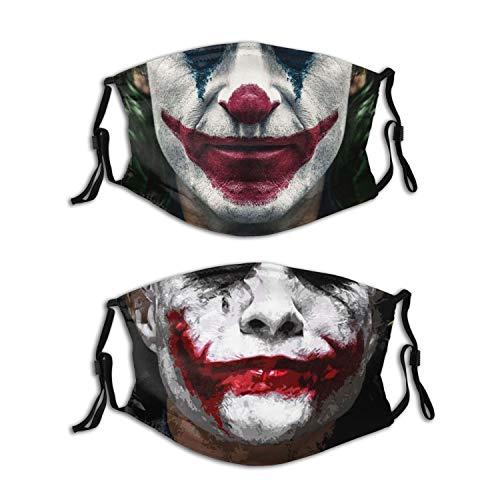 2Pcs Face Cover Bandana Windproof Mouth Balaclava Washable Adjustable Neck Gaiter Scarf Bandanas Reusable for Men Women