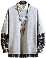 Japan Stijl Casual O-hals Patchwork Hoodie Sweatshirt Mannen Dikke Fleece Hip Hop Hoge Streetwear Kleding