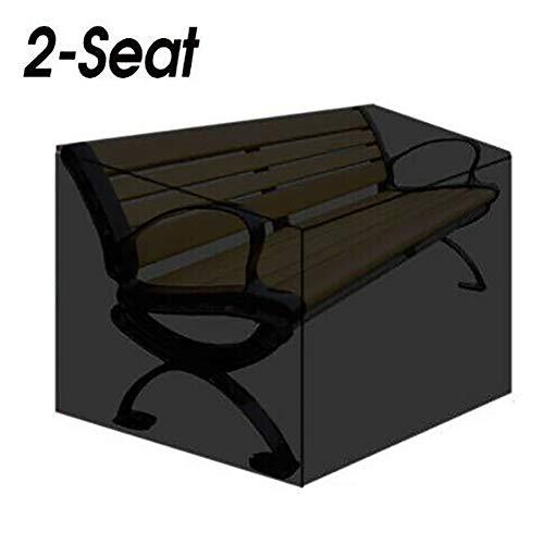 YChoice365 2-Sitzer-Gartenbank-Abdeckungen, langlebig und verschleißfest, winddicht, wasserdicht, UV-beständig, mit Aufbewahrungstasche, 134 x 66 x 89 cm (L x B x H)