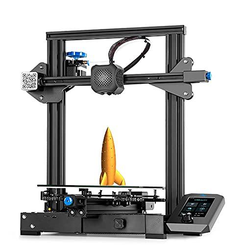 Creete Oficial Enterior 3 V2 FDM Impresora 3D, Placa Principal Silenciosa Mejor La Fuente De Alimentación, Plataforma De Cristal De Carborundum, Tamaño De Impresión De Gran Formato 220 X 220 X 250 Mm