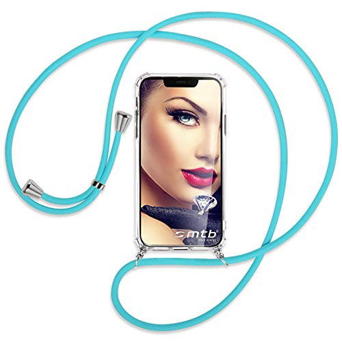 mtb more energy® Handykette kompatibel mit Sony Xperia L2, L2 Dual SIM (5.5'') - türkis - Smartphone Hülle zum Umhängen - Anti Shock Full TPU Hülle