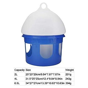 Aeloa Oiseaux d'eau Buveur Feeder - Grande capacité Automatique Mangeoire Pigeon - Distributeur d'eau Conteneur Abreuvoir Oiseaux Volaille Fournitures Outils (4L)