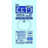 ハウスホールドジャパン JS03 ポリ袋No.3 規格袋3号 透明 80x150mm 20000枚
