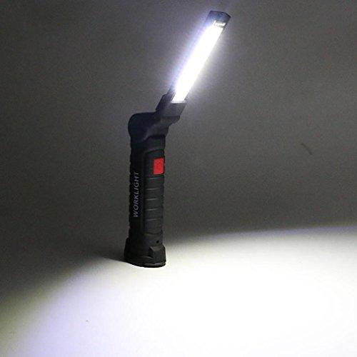 Mamum Lampe de travail à LED COB et LED Magnétique, rechargeable, flexible, sans fil Taille unique b