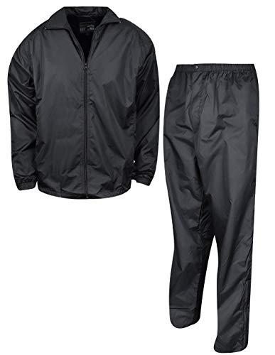 Forrester's Men's Packable Rain Set, Black, Large