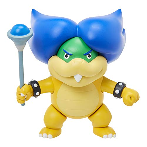 "Super Mario 4"" Ludwig Von Koopa Articulated Figure with Magic Wand Accessory"